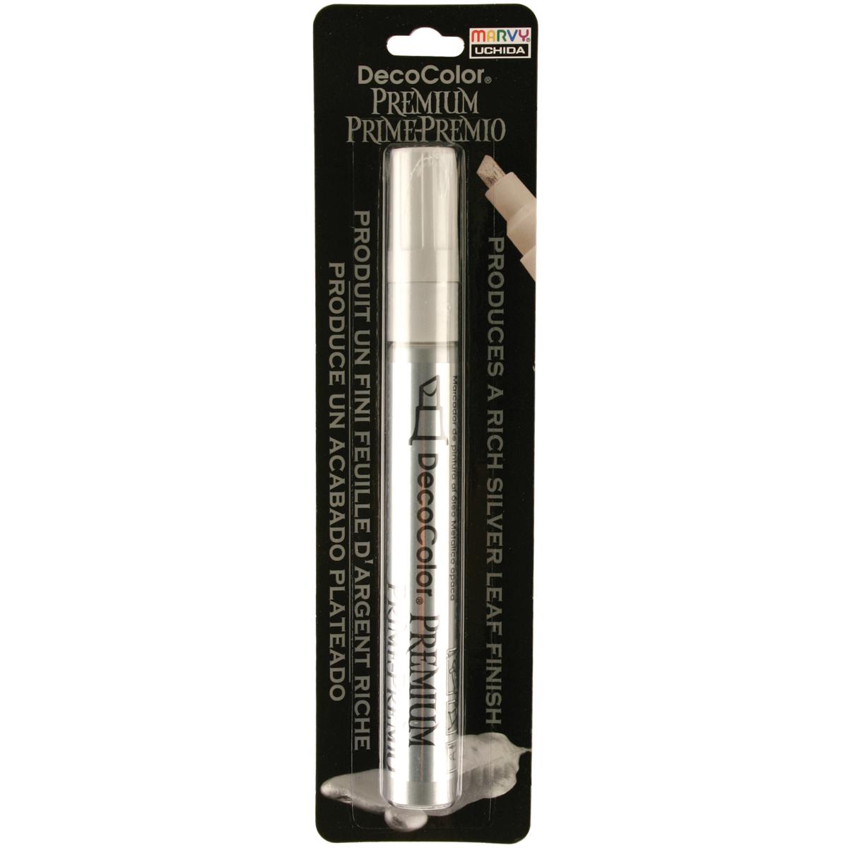 Marvy Uchida DecoColor Premium Chisel Silver Paint Marker, 1 Each