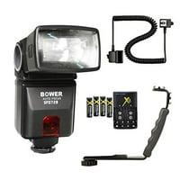 Bower SFD728N TTL Dedicated Autofocus Camera Flash Accessory Bundle for Nikon DSLR's