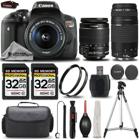 Canon EOS Rebel T6i SLR Camera + 18-55mm STM Lens + Canon EF 75-300mm III Lens