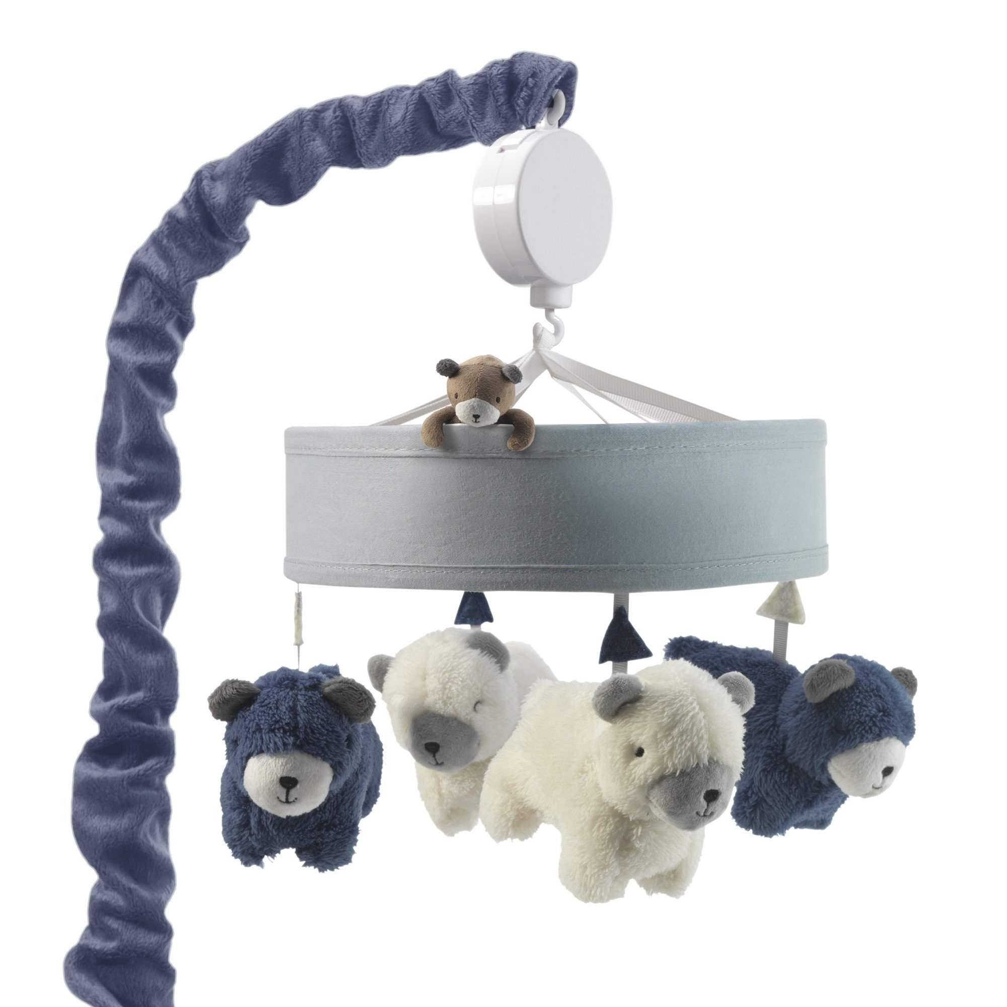 Lambs & Ivy Signature Montana Musical Baby Crib Mobile Blue, White, Animals by Lambs %26 Ivy