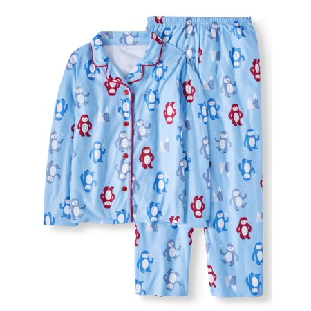 Toast & Jammies Holiday Family Sleep Yeti Notch Collar Pajamas, 2-piece Set (Boys or Girls Unisex) (Pikachu Girl Or Boy)