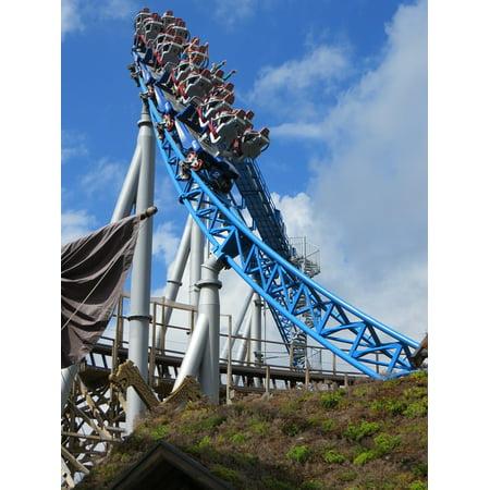 Europa Park Halloween Sound (Canvas Print Theme Park Ride Carousel Roller Coaster Europa Park Stretched Canvas 10 x)