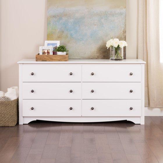 Monterey 6 Drawer Dresser White