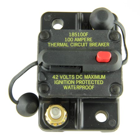 Bussmann CB185-100 Surface-Mount Circuit Breakers, 100 Amps (1 per pack)