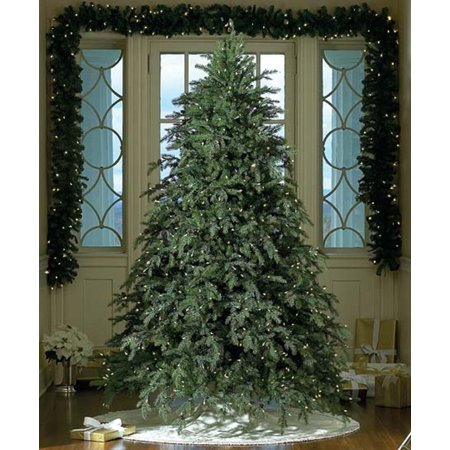 7.5' Downswept Hunter Fir Pre-Lit LED Artificial Christmas Tree - Clear  Lights - 7.5' Downswept Hunter Fir Pre-Lit LED Artificial Christmas Tree