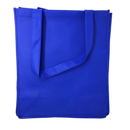Eco Friendly Reusable Bags (3 Pack Reusable Grocery Shopping Tote Bag Bags With Gusset Eco Friendly 13X15inch)