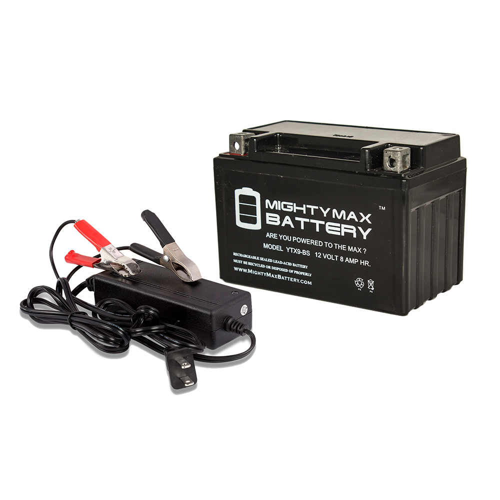 YTX9-BS Replaces Piaggio Vespa 125 ET4 00-04 + 12V 2Amp Charger