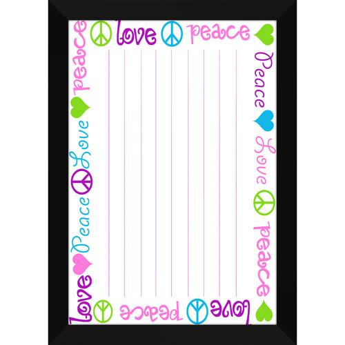 Peace and Love Memo Whiteboard