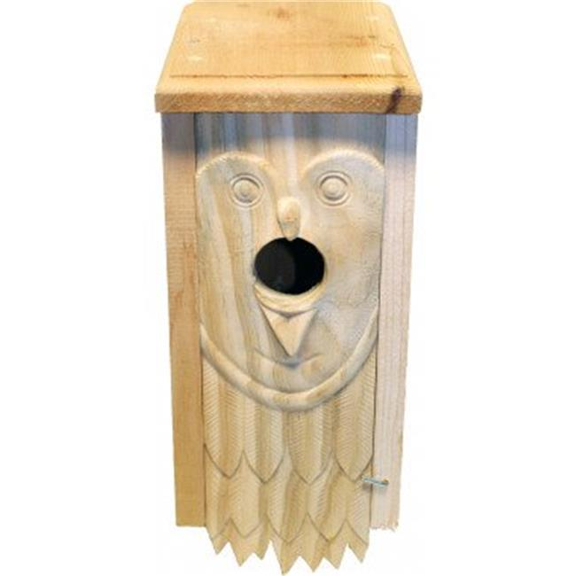 Welliver Outdoors WDCO Welliver Carved Bluebird House Owl, Natural - image 1 of 1