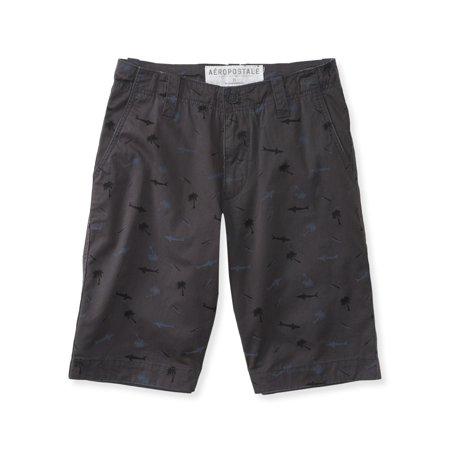 Aeropostale Mens Shark And Palm Casual Walking Shorts](Shark Shorts)