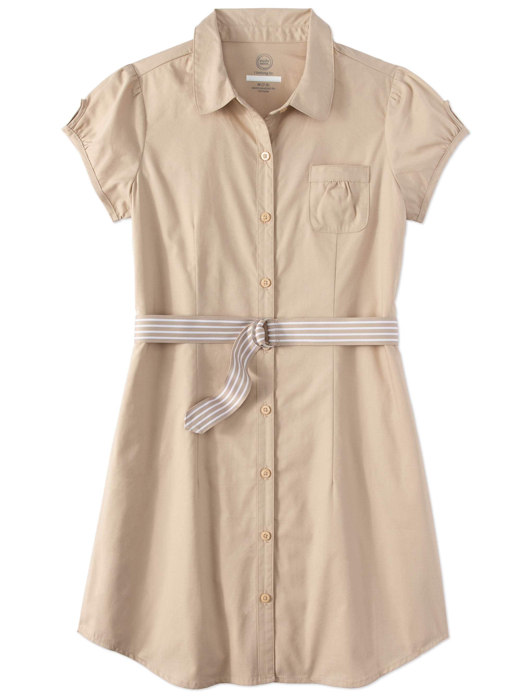 Girls School Uniform Shirt Dress