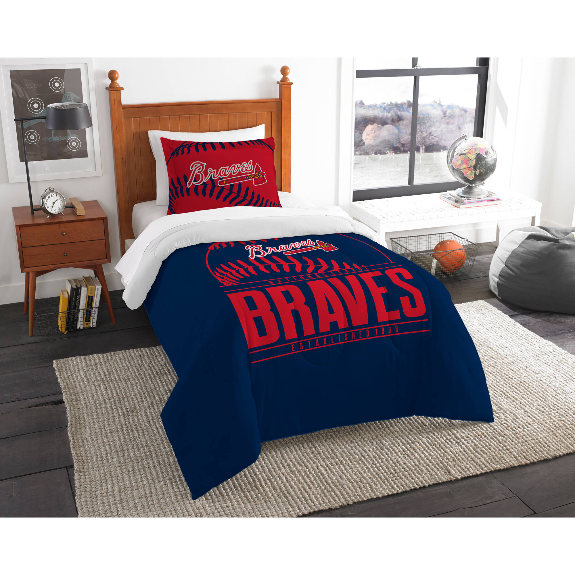 "MLB Atlanta Braves ""Grand Slam"" Bedding Comforter Set"