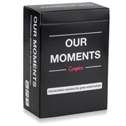 OUR MOMENTS Couples: 100 Thought Provoking Conversation Starters for Great Relationships Fun Conversation Cards Game for Couples