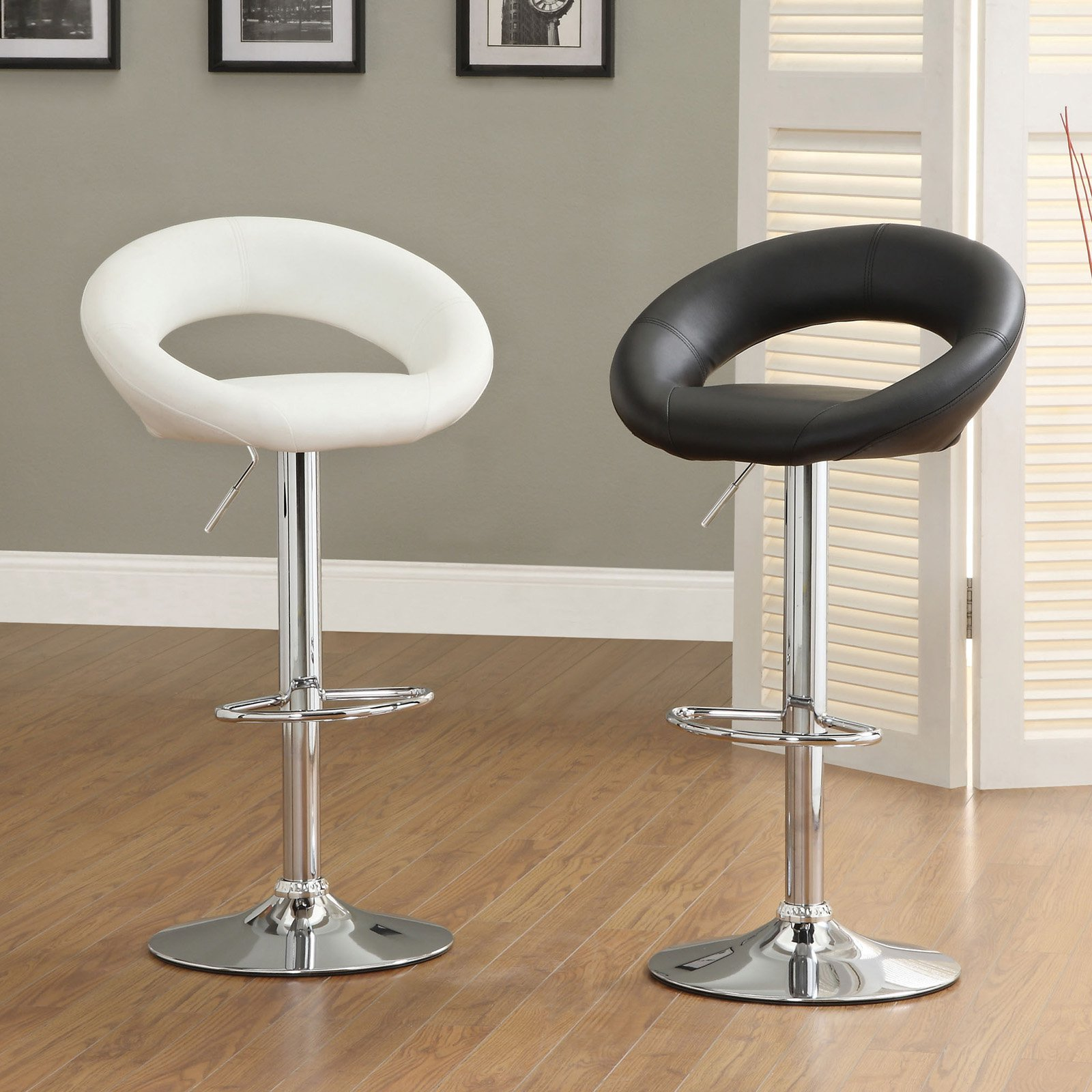 Furniture of America Galatina Adjustable Height Modern Bar Chair - 2 Piece