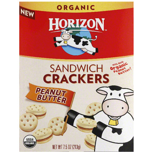 Horizon Peanut Butter Sandwich Crackers, 7.5 oz, (Pack of 12)