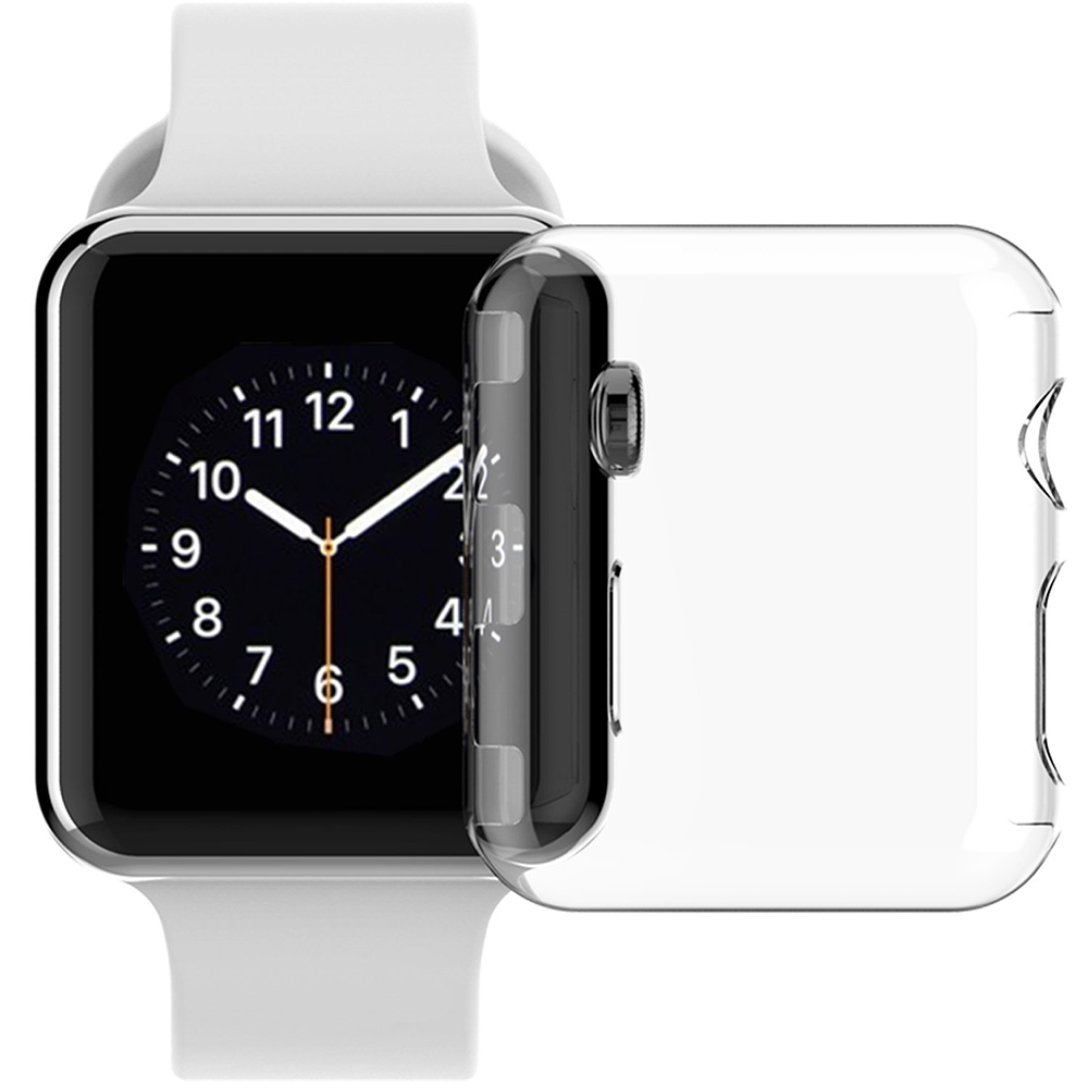 Apple Watch Series 3 38mm Case, See-Thru Transparent Clear Hard Cover Screen Guard for Apple Watch iWatch (SERIES 3, 38mm)