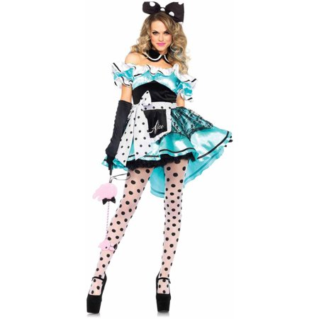 Leg Avenue Women's 3 Piece Delightful Alice Costume, Multi, Small - Leg Avenue Alice Costume