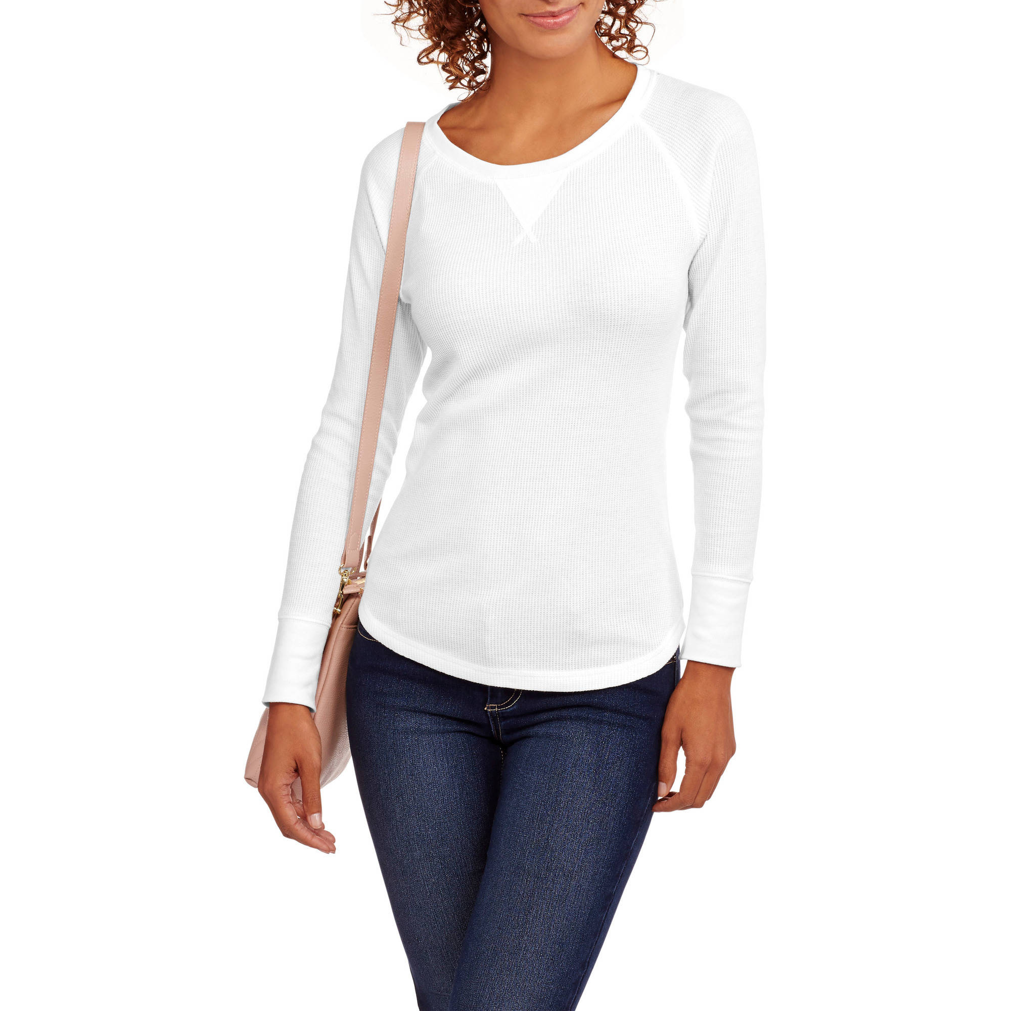 Faded Glory Women's Thermal Raglan Tee