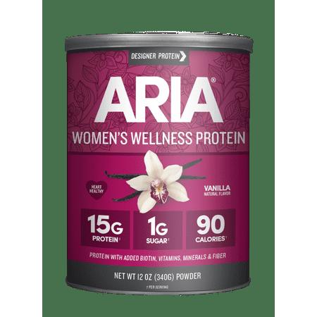 Aria Designer Protein Powder, Vanilla, 15g Protein, 12oz