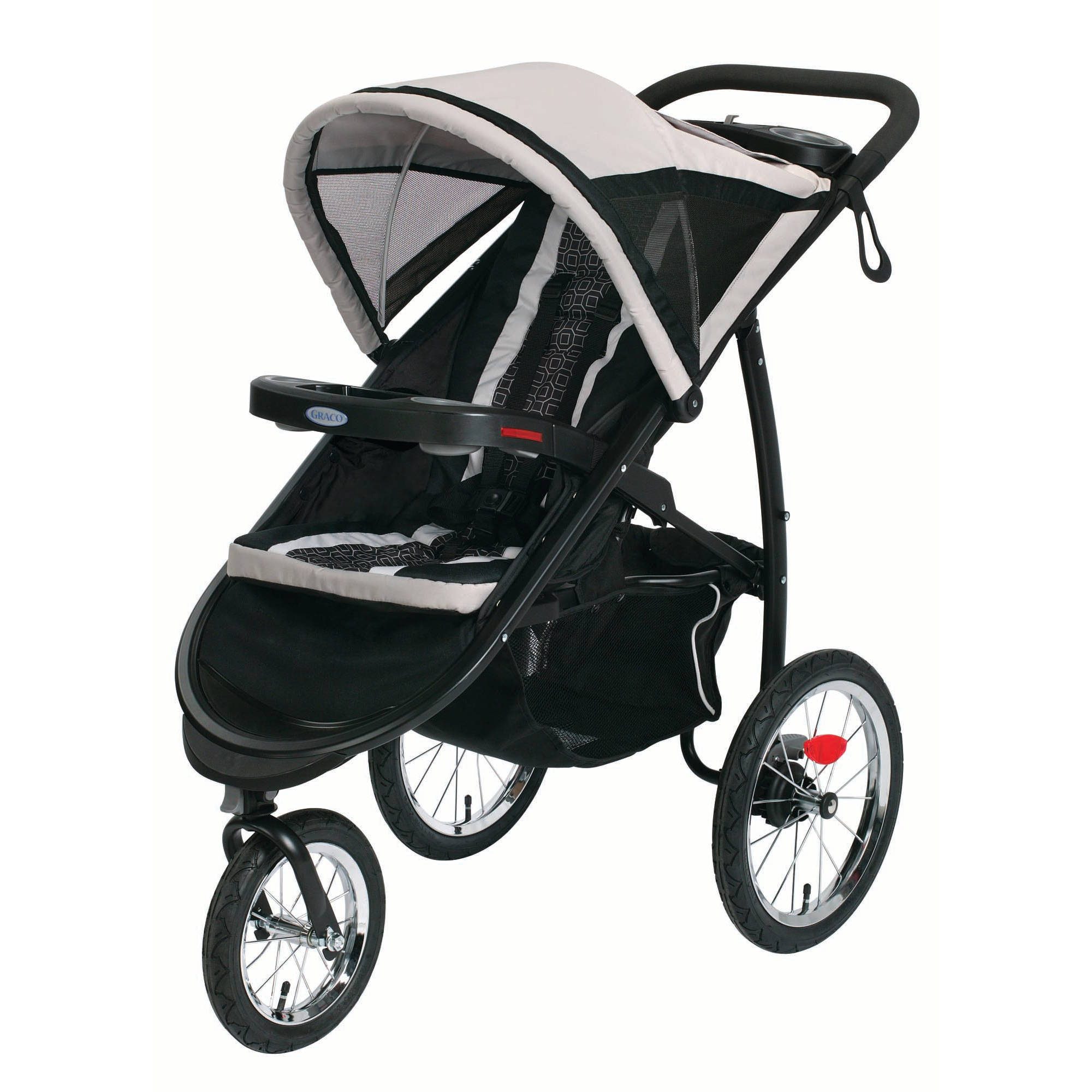 Graco FastAction Fold Jogger Click Connect Jogging Stroller, Pierce