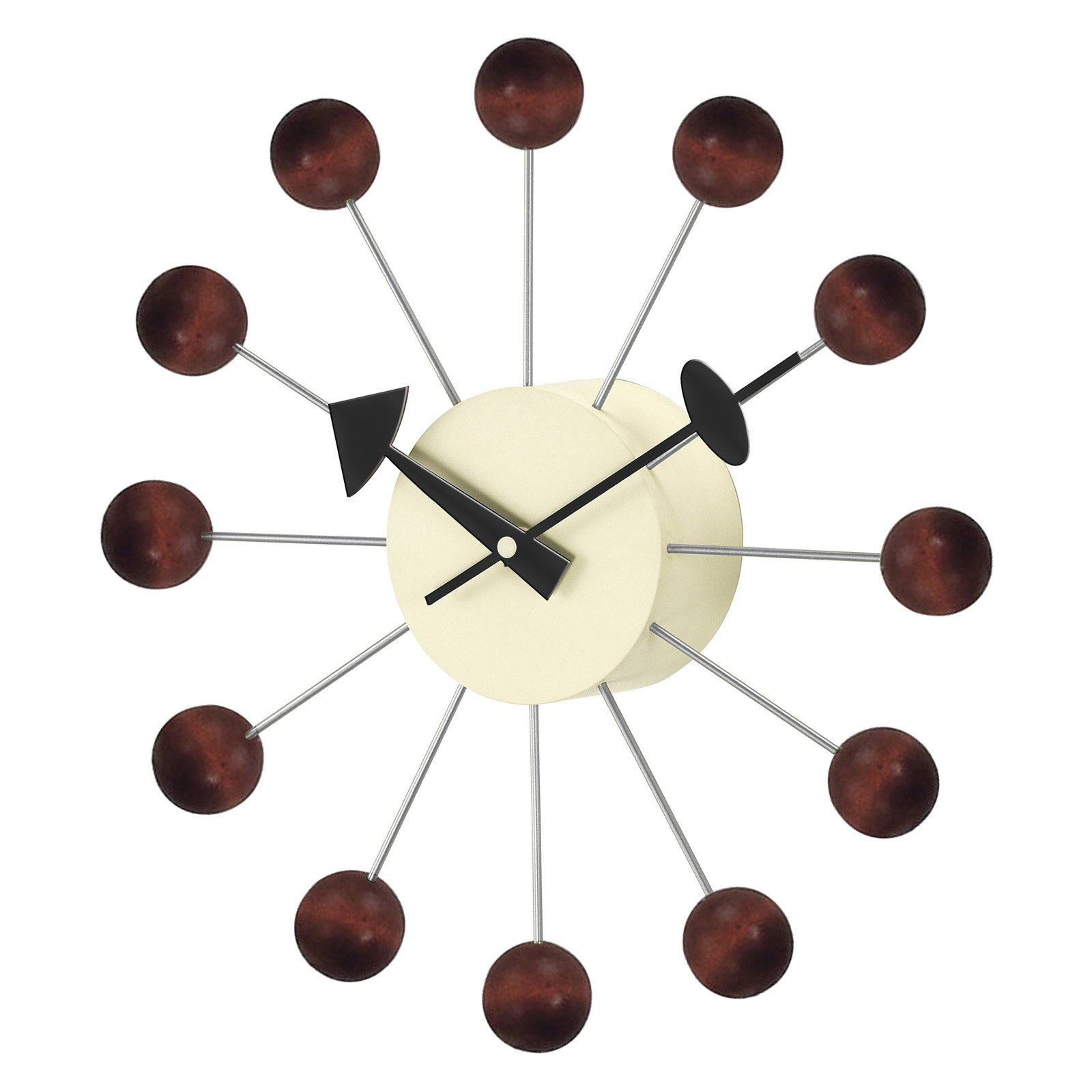 George Nelson Ball 13 in. Wall Clock - Walnut