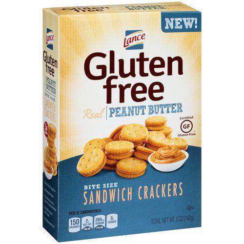 Lance Gluten Free Peanut Butter Bite Size Sandwich Crackers, 5 oz