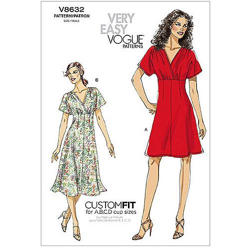 Vogue Pattern Misses' Dress, (8, 10, 12, 14, 16)