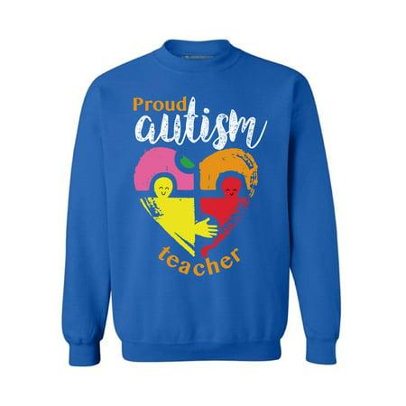Awkward Styles Autism Awareness Sweatshirt Proud Autism Teacher Sweater Autism Awareness Gifts for Teacher Autism Sweater Men Autism Awareness Sweatshirt Women I Teach Awesome Kids Autism Outfit