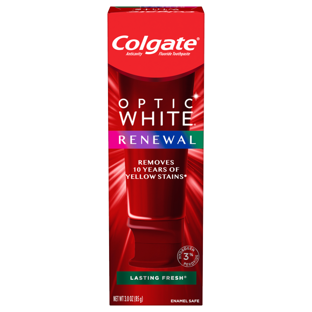 Colgate Optic White Renewal Teeth Whitening Toothpaste Lasting Fresh 3 Oz Walmart Com Walmart Com