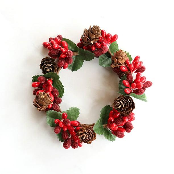 Red Artificial Garland Versatile Wall Mount Pine Cones Fruit Decorative Garland