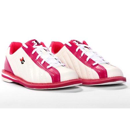 3G Kicks White/Pink Women's Bowling Shoes, Size 6