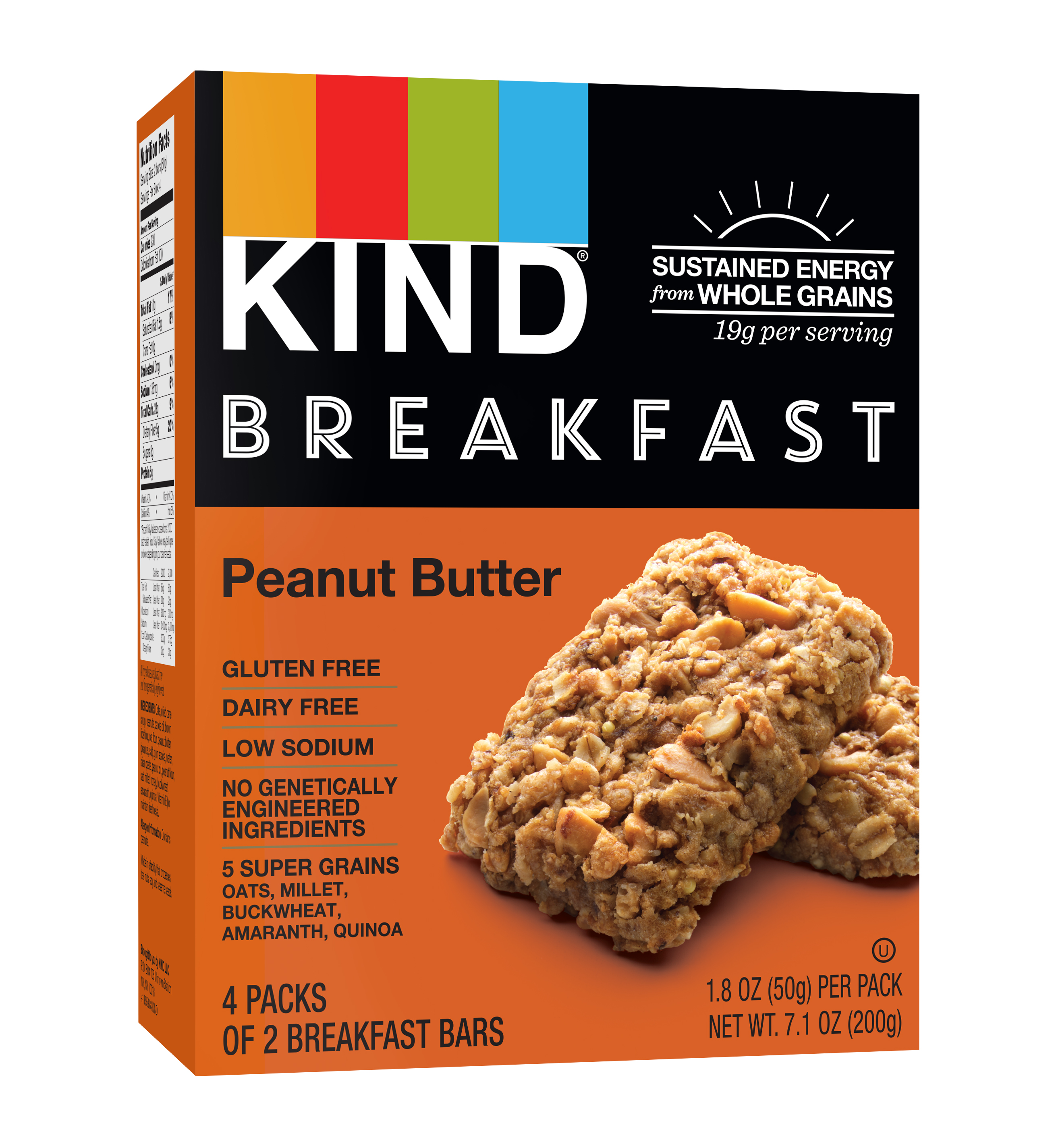 KIND Breakfast Bars 4 ct, Peanut Butter Bars, Gluten Free