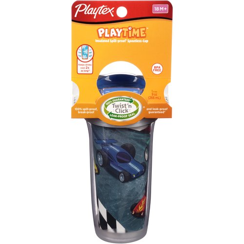 Playtex Playtime 9-oz Insulated Spoutless Cup, BPA-Free (Design May Vary)