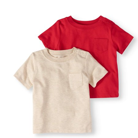 Baby Boy Pocket T-Shirts, 2-pack for $<!---->