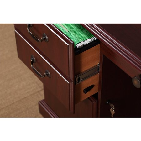 kathy ireland Office Manager's Desk and Bookcase in Harvest Cherry - image 6 de 8