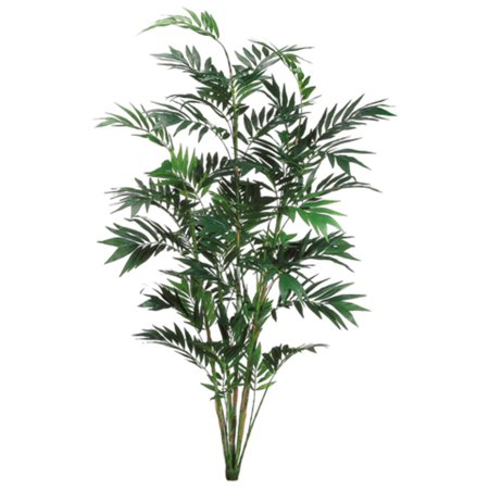 Pack of 2 Artificial Tropical Green Bamboo Palm Plants 7'