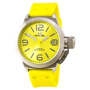 TW520 Men's Canteen Fashion Yellow Dial Yellow Silicon Strap Watch