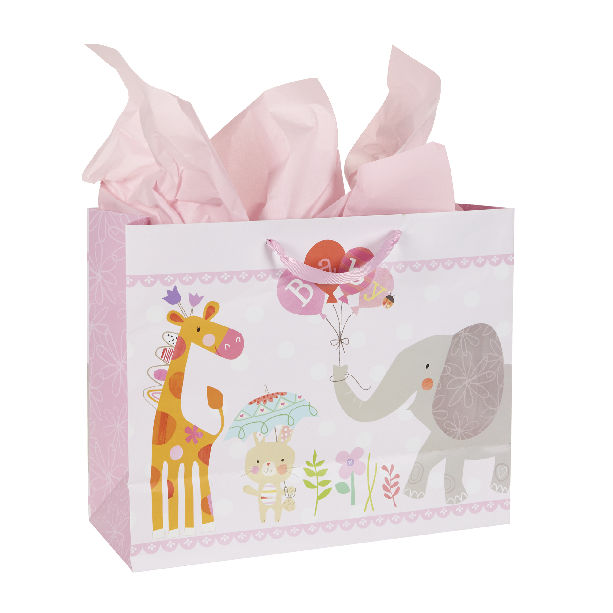 Stepping Stones Tickled Pink Girl Gift Bag