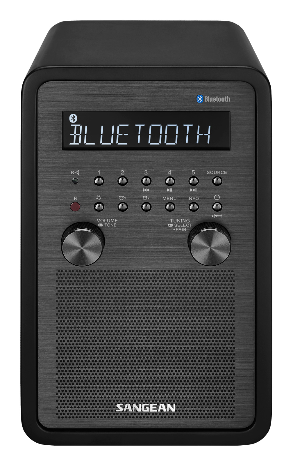 Sangean All in One Bluetooth AM FM Dual Alarm Clock Radio with Large Easy to Read Backlit LCD Display by Sangean