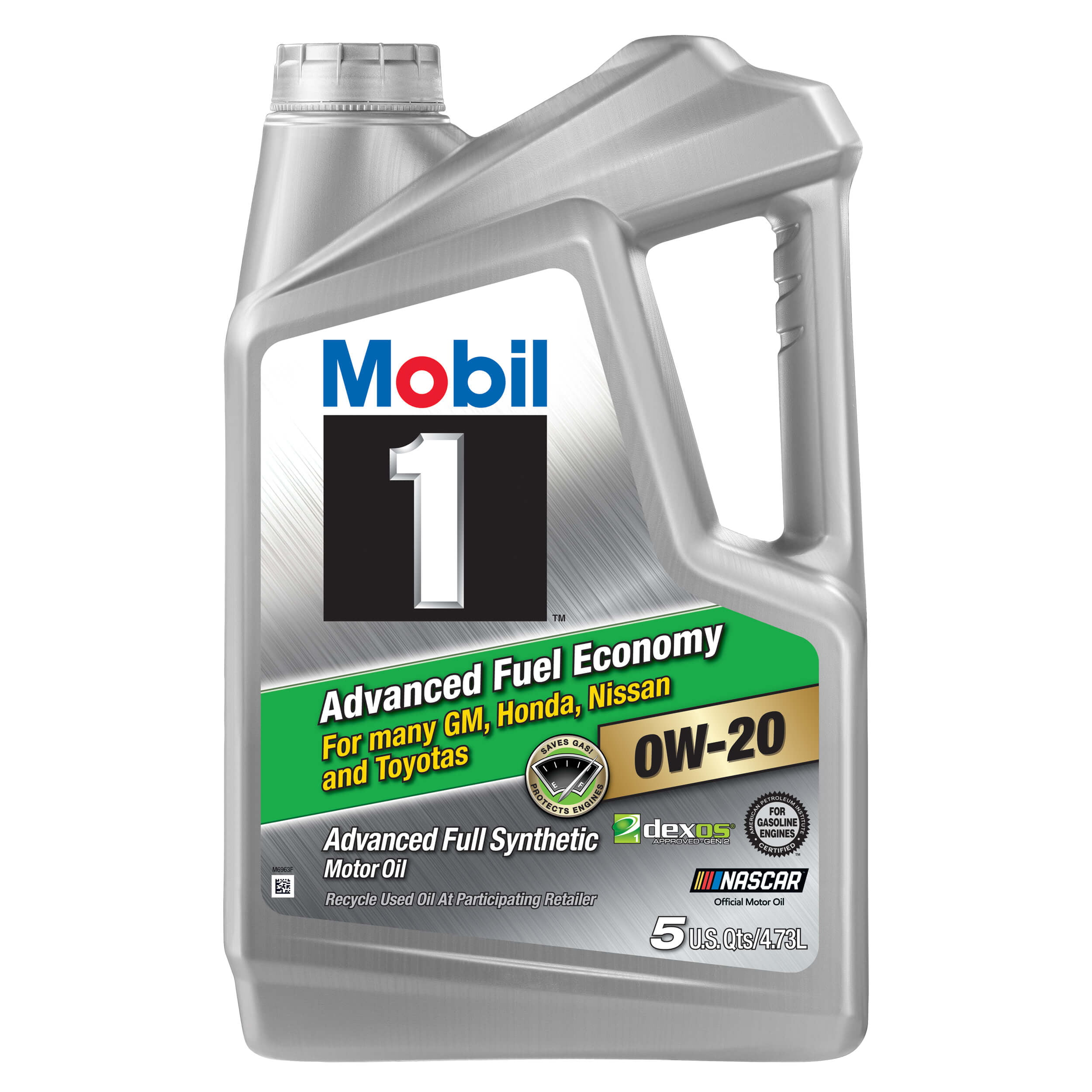 Mobil 1 Advanced Fuel Economy Full Synthetic Motor Oil 0W-20, 5-qt