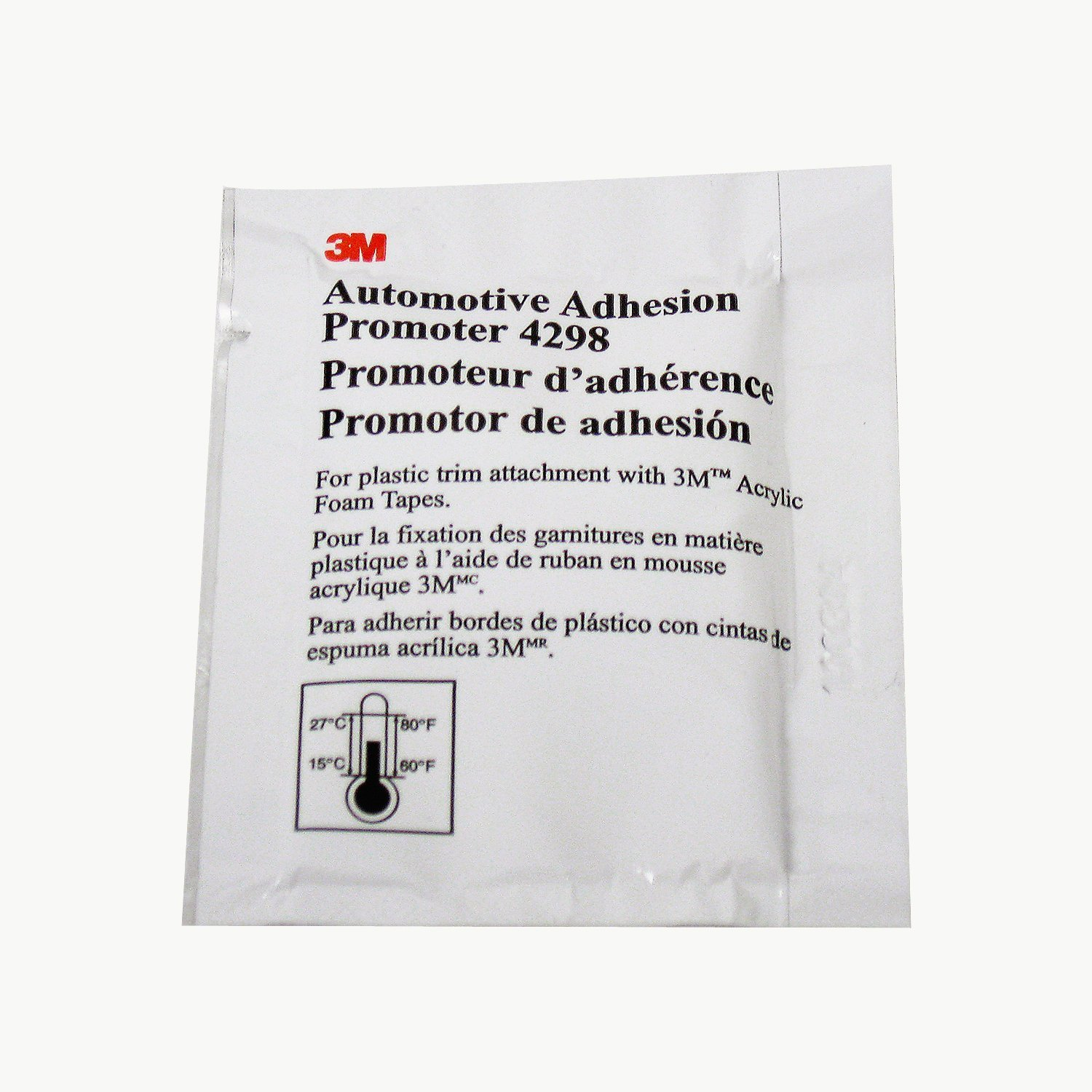 3M 27571 4298 Adhesion Promoter, Sponge Applicator