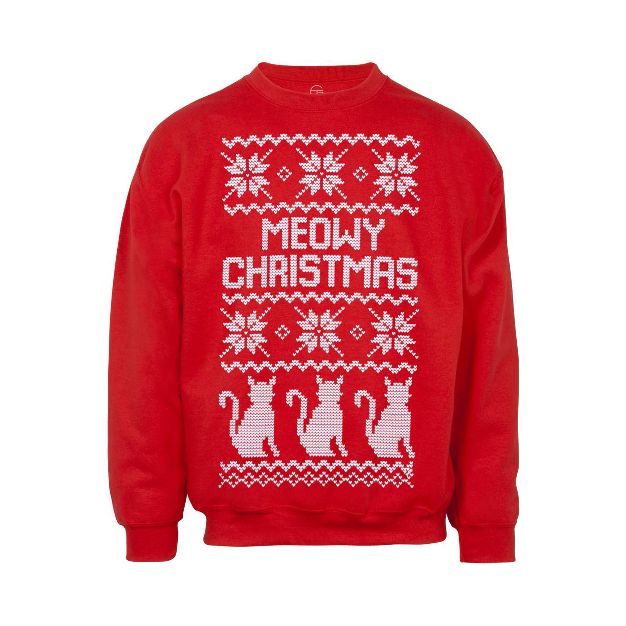 3x Ugly Christmas Sweater.Mens Meow Christmas Cat Ugly Christmas Sweatshirt 3x Large