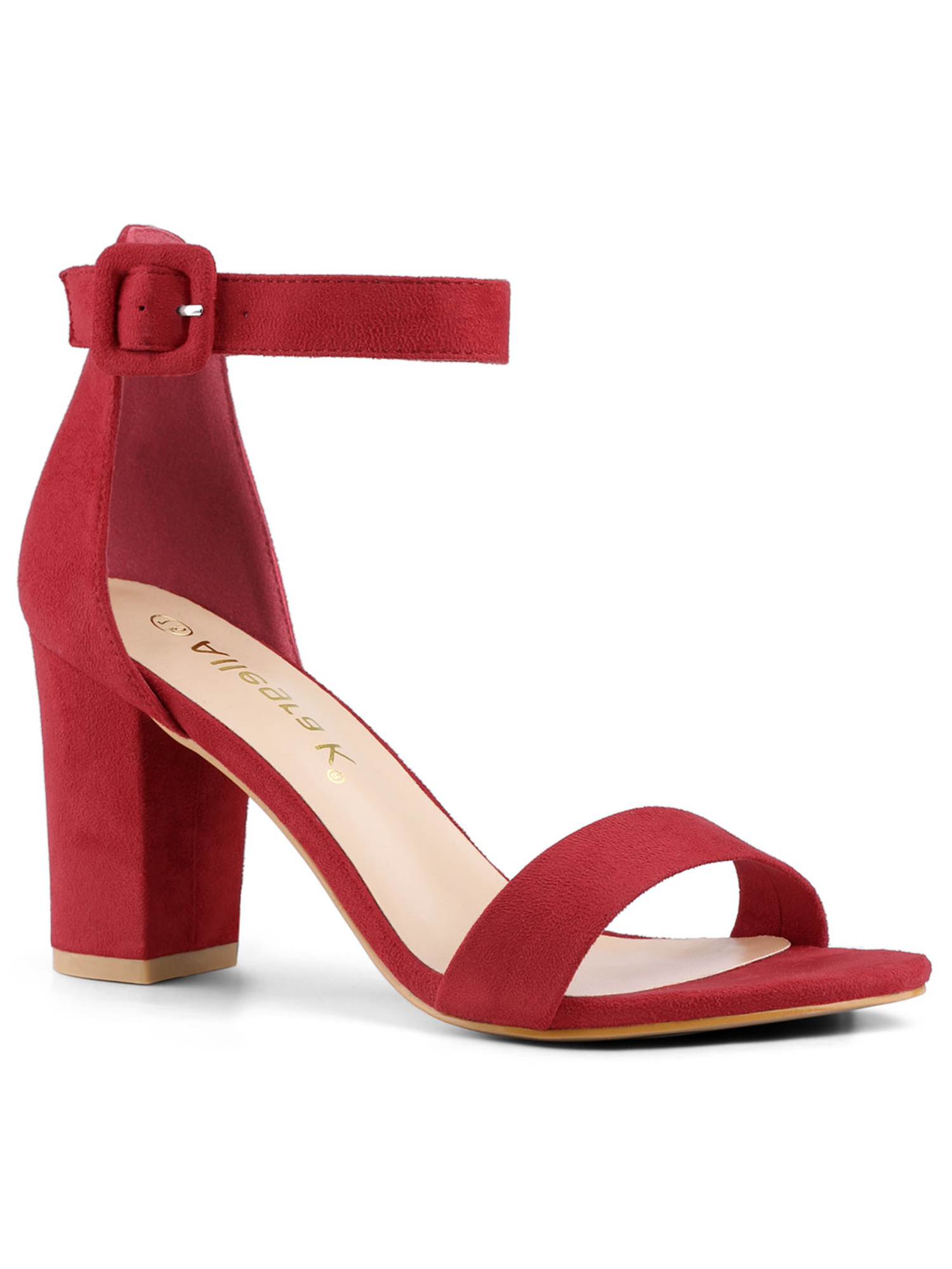 Details about  /Women Ankle Strap Bow Slingbacks Sandals Block Mid Heels Faux Suede Casual Shoes