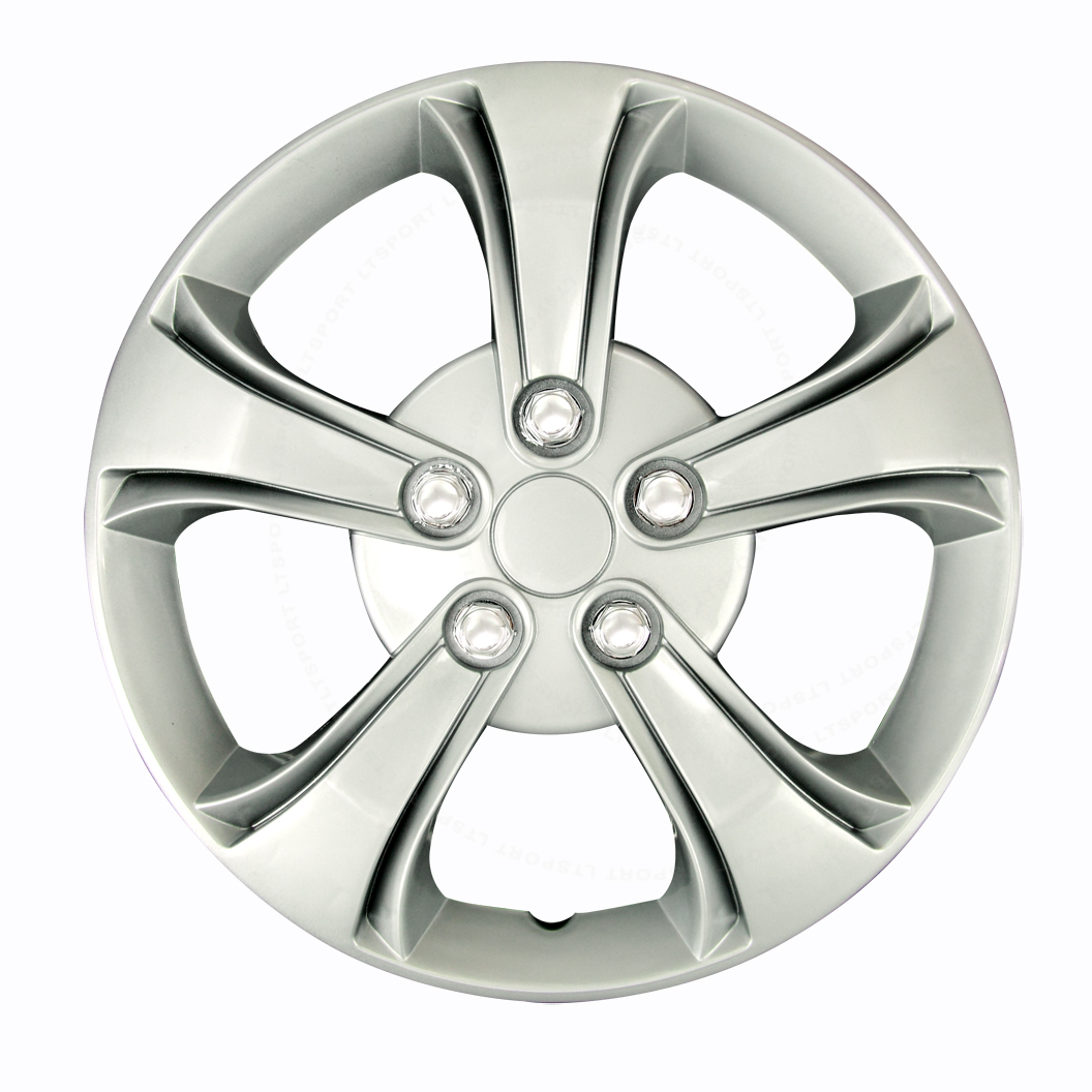 "FIT 91-06 SATURN 4 PCS SILVER 14"" INCH CHROME HUB CAPS RIMS AUTO WHEEL COVERS"