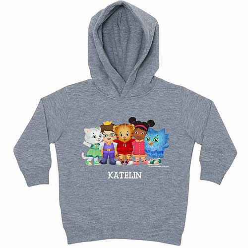 Personalized Daniel Tiger's Neighborhood Toddler Boy Gray Hoodie