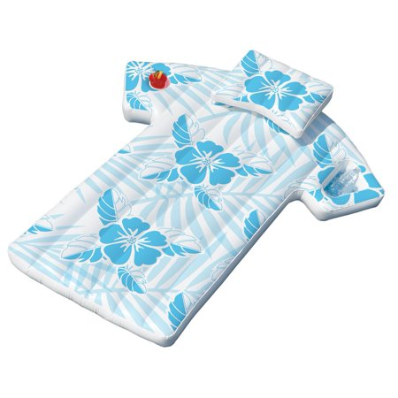 - Swimline 90604 Inflatable Fun Swimming Pool Hawaiian Cabana Shirt Float Lounger
