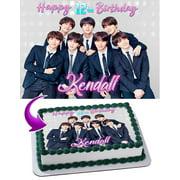 "BTS Boy Band, Bangtan Boys Edible Cake Image Topper Personalized Birthday Party 1/4 Sheet (8""x10.5"")"