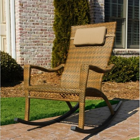 Pemberly Row Rocking Chair in Antique Brown ()