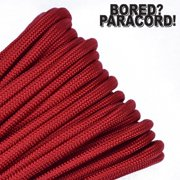 Bored Paracord Brand 550 lb Type III Paracord - Imperial Red 10 Feet