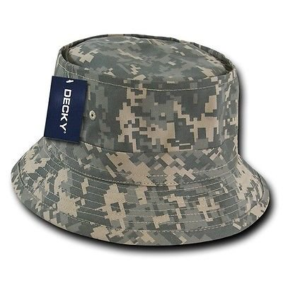 Uni Digital ACU Camo Fishermans Fishing Sun Bucket Safari Hiking Boonie Hat L/XL](Camo Bucket Hats)